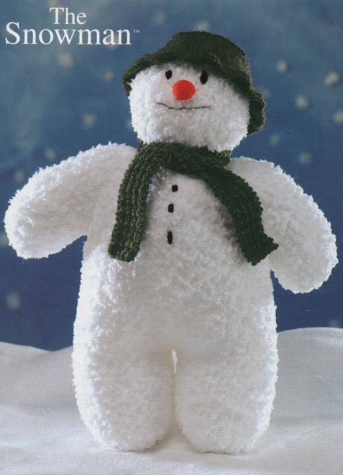 Vintage Knitting Pattern For Snowman eBay