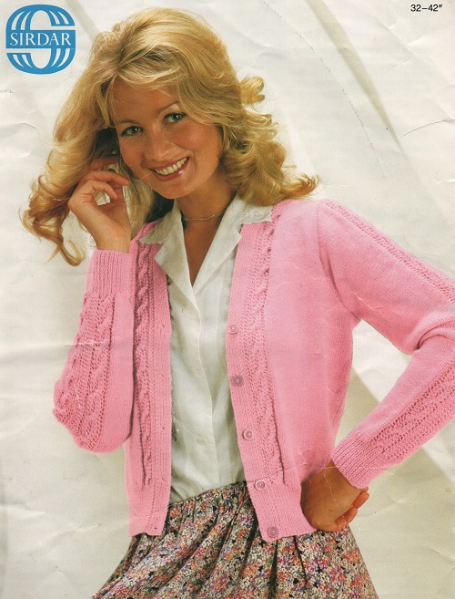 Knitting Patterns Ladies Summer Cardigans : Vintage Knitting Pattern For Ladies Summer cardigan In 4ply Size 32 - 42 eBay