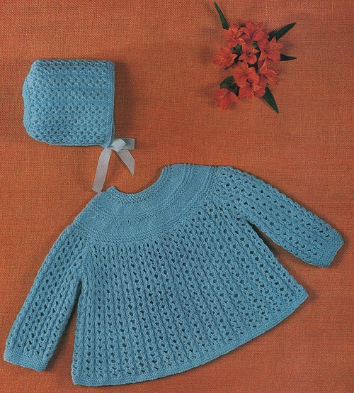 Free Knitting Pattern For Angel Top : Vintage Knitting Pattern For Angel Top And Bonett eBay